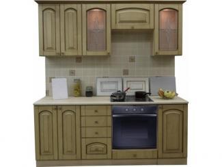 Кухня прямая Патина беленый дуб - Мебельная фабрика «Техсервис»