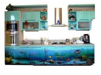 Кухня Аквамарина - Мебельная фабрика «Интерьер-мебель»