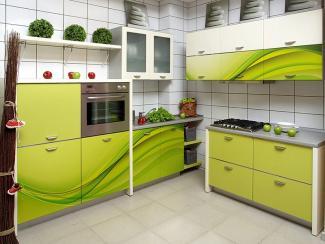 Кухонный гарнитур угловой 8 фотопечать - Мебельная фабрика «Виктория»