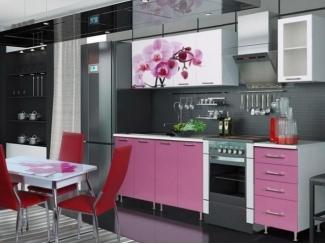 Кухонный гарнитур прямой с фотопечатью