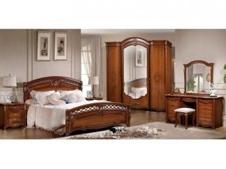 Коричневая спальня Франческа  - Мебельная фабрика «Слониммебель»