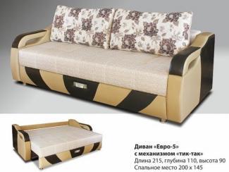 Диван прямой Евро-5 с механизмом тик-так - Мебельная фабрика «Надежда»