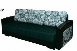 Темный прямой диван Виньетка