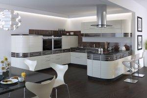 Большая угловая кухня Бостон - Мебельная фабрика «Мебель.Ру»