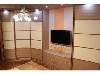 Шкаф с радиусной тумбой под ТВ - Мебельная фабрика «ТРИ-е»