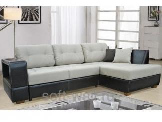Диван угловой Барон с оттоманкой - Мебельная фабрика «SoftWall»