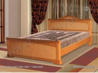 Кровать из дерева Амазонка 1 - Мебельная фабрика «Альянс 21 век»