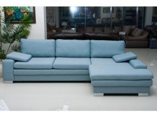 Голубой диван Сафари 3 - Мебельная фабрика «Новая мебель»