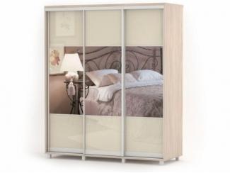 Шкаф-купе АВРОРА 3-х дверный с зеркалом - Мебельная фабрика «Баронс»