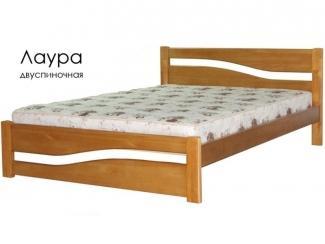 Кровать Лаура из массива сосны - Мебельная фабрика «Массив»