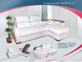 Угловой диван Валенто 01 - Мебельная фабрика «Софт-М», г. Ульяновск
