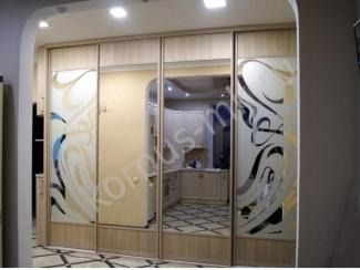 Шкаф купе со вставками и фасадами из пластика  - Мебельная фабрика «Корпус» г. Рязань