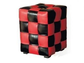 Черно-красный пуф Квадрат - Мебельная фабрика «Вега»