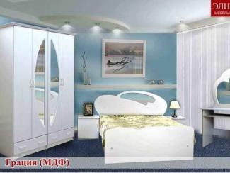Спальный гарнитур Грация (МДФ) - Мебельная фабрика «Элна»