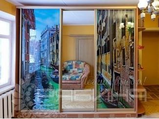 Шкаф-купе Венеция фотопечать  - Мебельная фабрика «Рябина», г. Москва