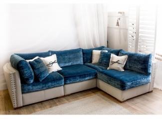 Красивый синий диван Эленсберг  - Мебельная фабрика «Рой Бош»