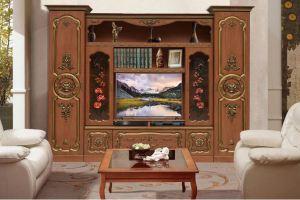 Стенка Орхидея с резными декорами  - Мебельная фабрика «Аристократ»