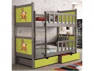 Кровать двухъярусная Тематика 3 - Мебельная фабрика «Массив мастер», г. Екатеринбург