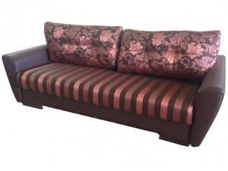 Полосатый диван с подушками Кентуки  - Мебельная фабрика «Галактика», г. Москва