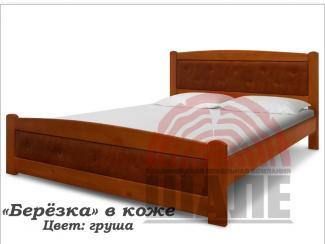 Кровать Березка в коже - Мебельная фабрика «ВМК-Шале»