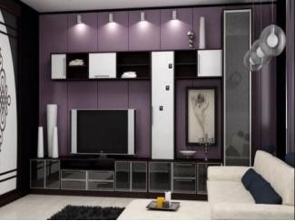 Черно-белая мебель для гостиной  - Мебельная фабрика «Перспектива»