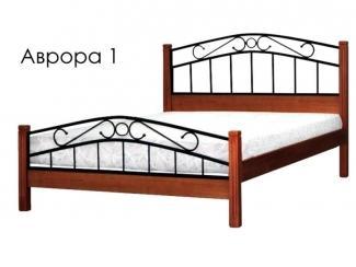 Кровать Аврора 1 с элементами ковки - Мебельная фабрика «Массив»