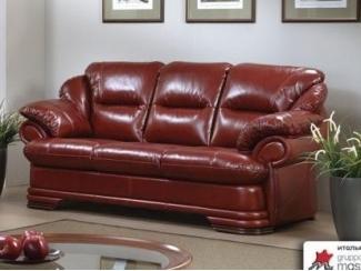 Кожаный прямой диван Абсолют - Мебельная фабрика «Котка»