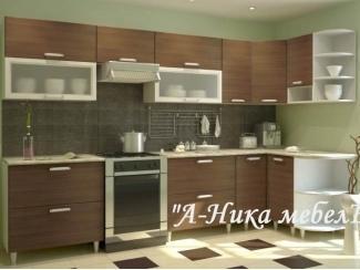 Коричневая угловая кухня Верона - Мебельная фабрика «А-Ника», г. Ульяновск