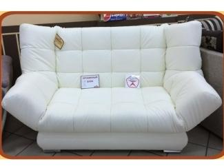 Белый диван прямой с механизмом Клик-Кляк 2 - Мебельная фабрика «Данила мастер», г. Омск
