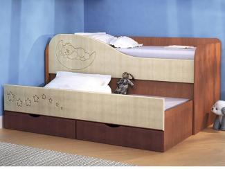 Кровать 2-х ярусная с выдвижной секцией - Мебельная фабрика «Вита-мебель»