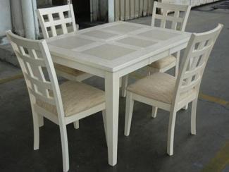 Стол LT T13305 EMBOSS WHITE