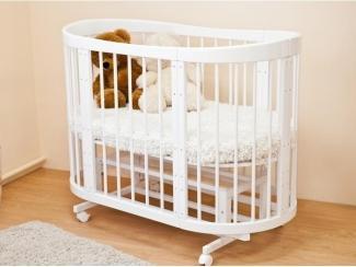 Овальная кроватка-трансформер 8 в 1  Паулина 2 - Мебельная фабрика «Красная звезда»