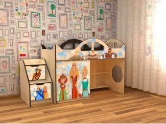 Кровать детская с УФ печатью КД Альфа 7.2 - Мебельная фабрика «Квадрат»