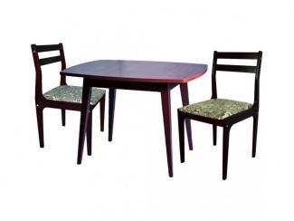 Стол овальный с двумя стульями - Мебельная фабрика «Энгельсская (Эмфа)»