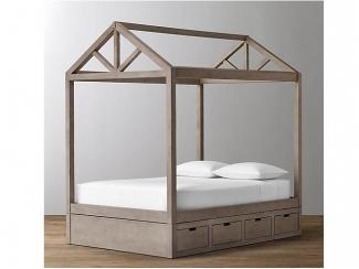 Кровать домик из массива бука для детей - Мебельная фабрика «Массив мастер», г. Екатеринбург