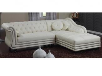 Светлый угловой диван 1 - Мебельная фабрика «Аркос»