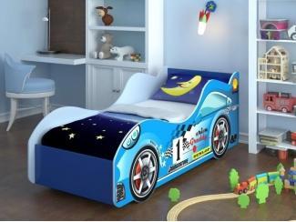 Кровать Машина с бязевым матрацем - Мебельная фабрика «Элна»