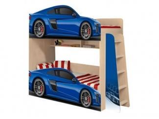 Двухъярусная детская кровать  Ауди р8 модель 4 - Мебельная фабрика «ПМК ВиП»