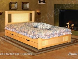 Кровать из дерева Лион 2 - Мебельная фабрика «Альянс 21 век»