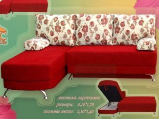 Диван угловой Блюз-Поло еврокнижка - Мебельная фабрика «Росмебель»