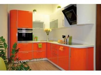 Оранжевая кухня из акрила