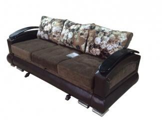 Трехместный диван с ручками из дерева - Мебельная фабрика «Ваш стиль»