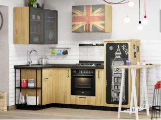 Небольшая угловая кухня с фасадами дуб Вест - Изготовление мебели на заказ «Кухни ЧУ»