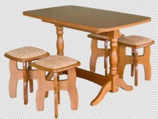 обеденный стол и 4 табурета - Мебельная фабрика «Боринское»