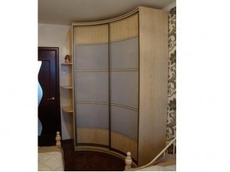 Угловой вогнутый радиусный шкаф с полками - Мебельная фабрика «ТРИ-е»