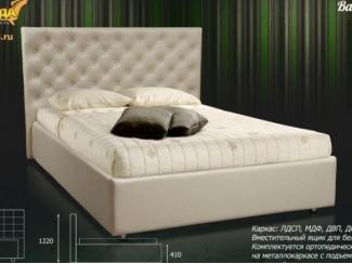 Светлая кровать Валенсия  - Мебельная фабрика «Панда», г. Кузнецк