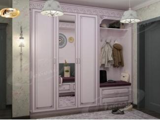 Розовый шкаф в прихожую Артемида