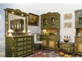 Кухонный гарнитур в зеленом цвете Лето  - Мебельная фабрика «Грин Лайн»