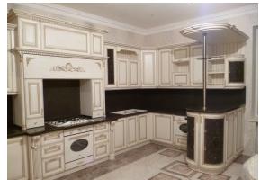 Кухня из массива дерева 03 - Мебельная фабрика «МеТра» г. Москва
