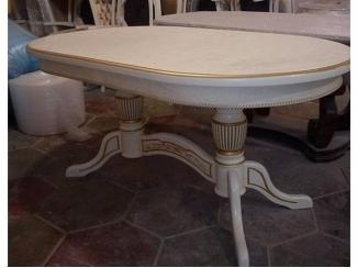 Белый овальный стол - Мебельная фабрика «Шанс»